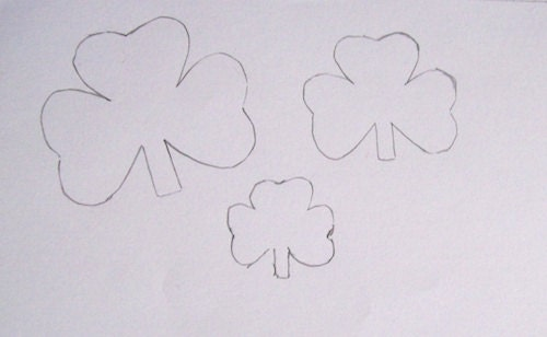 Shamrock templates Pretty Sew Sew