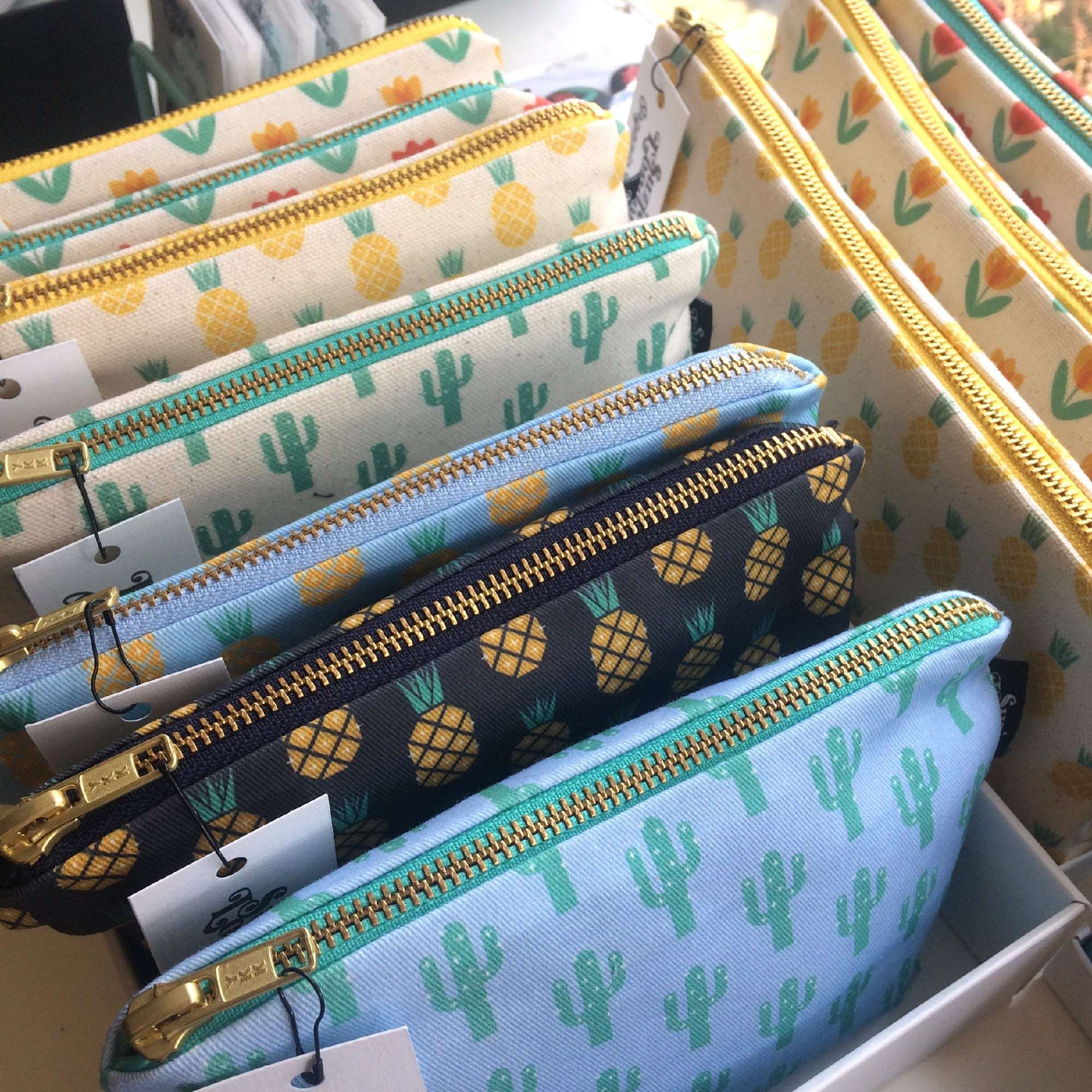 Suzie London zip pouches at Nest in Crouch End