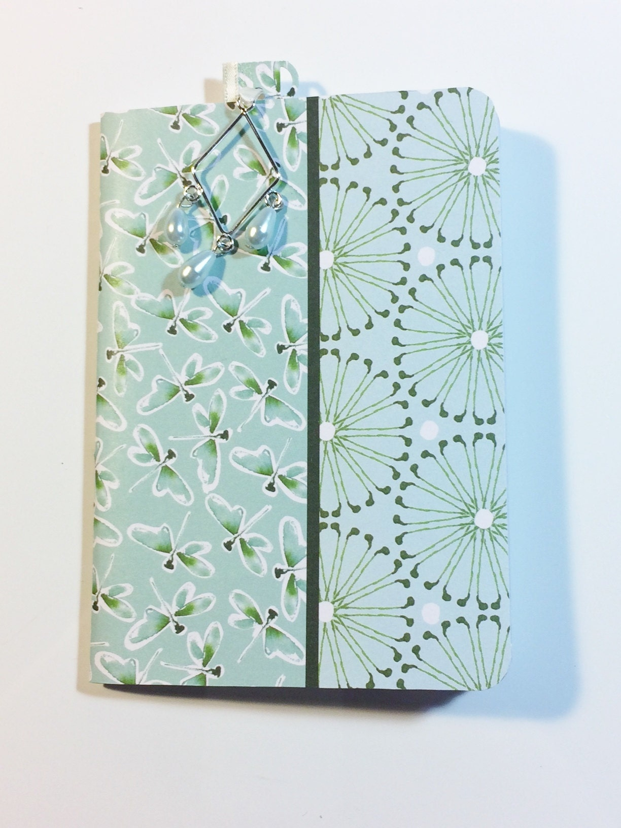 GiftsandHomeDecorUS Dragonfly Notebook and bookmarker