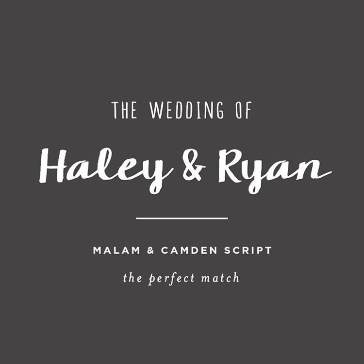 Best Free Wedding Font Pairings | The Perfect Match #3