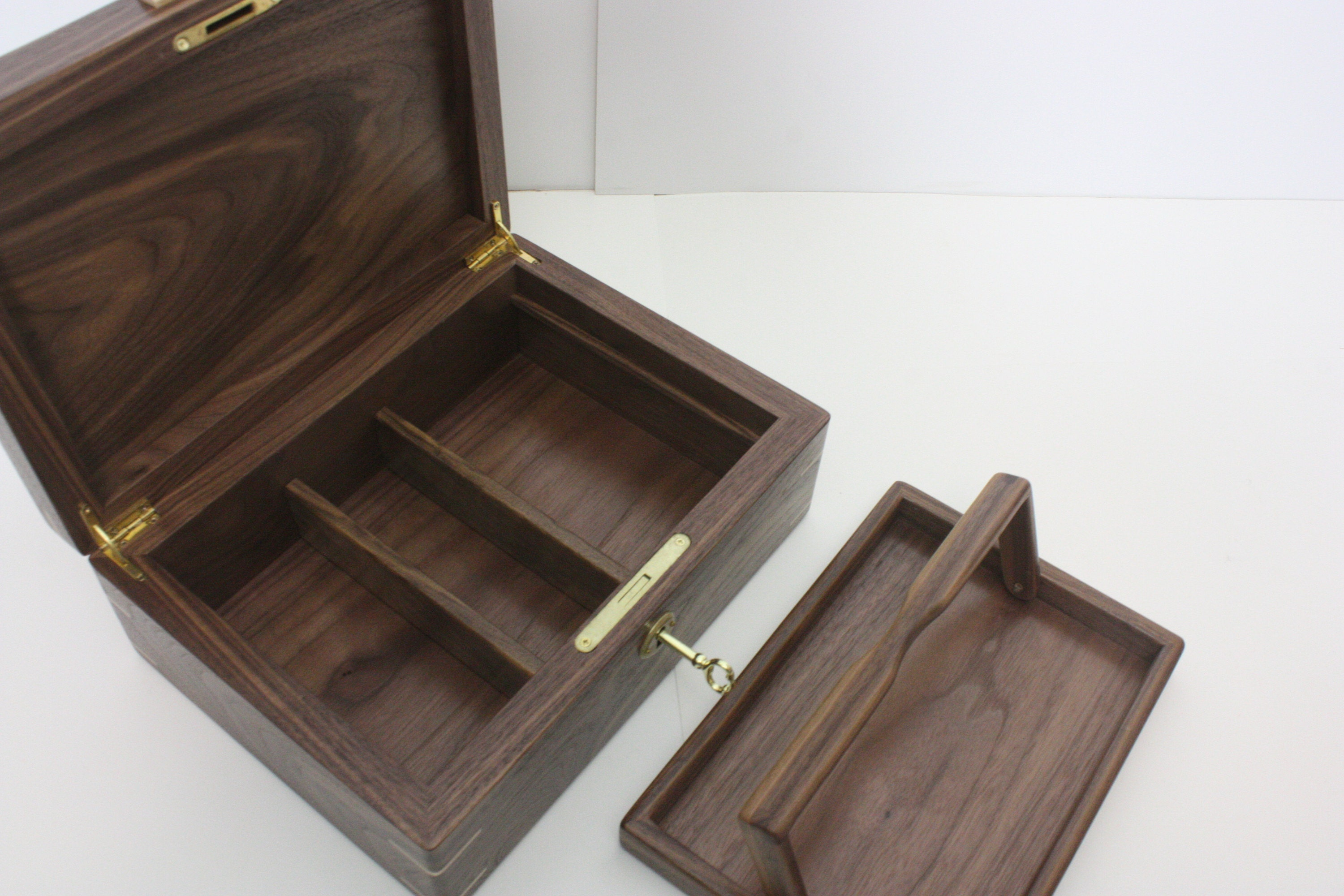 Wood Box with Adjustable Dividers
