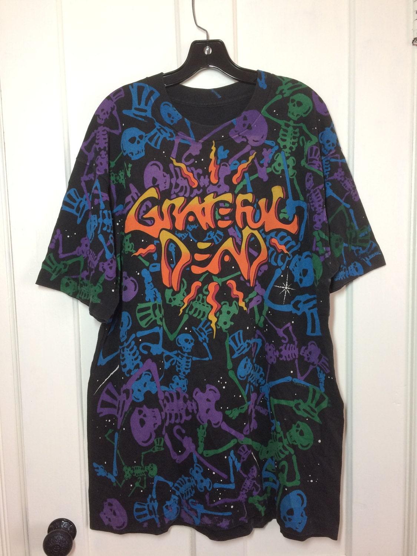 1990s Grateful Dead skeletons dead space tshirt