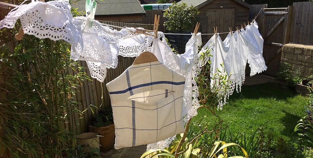 Marys Orchard washing linen