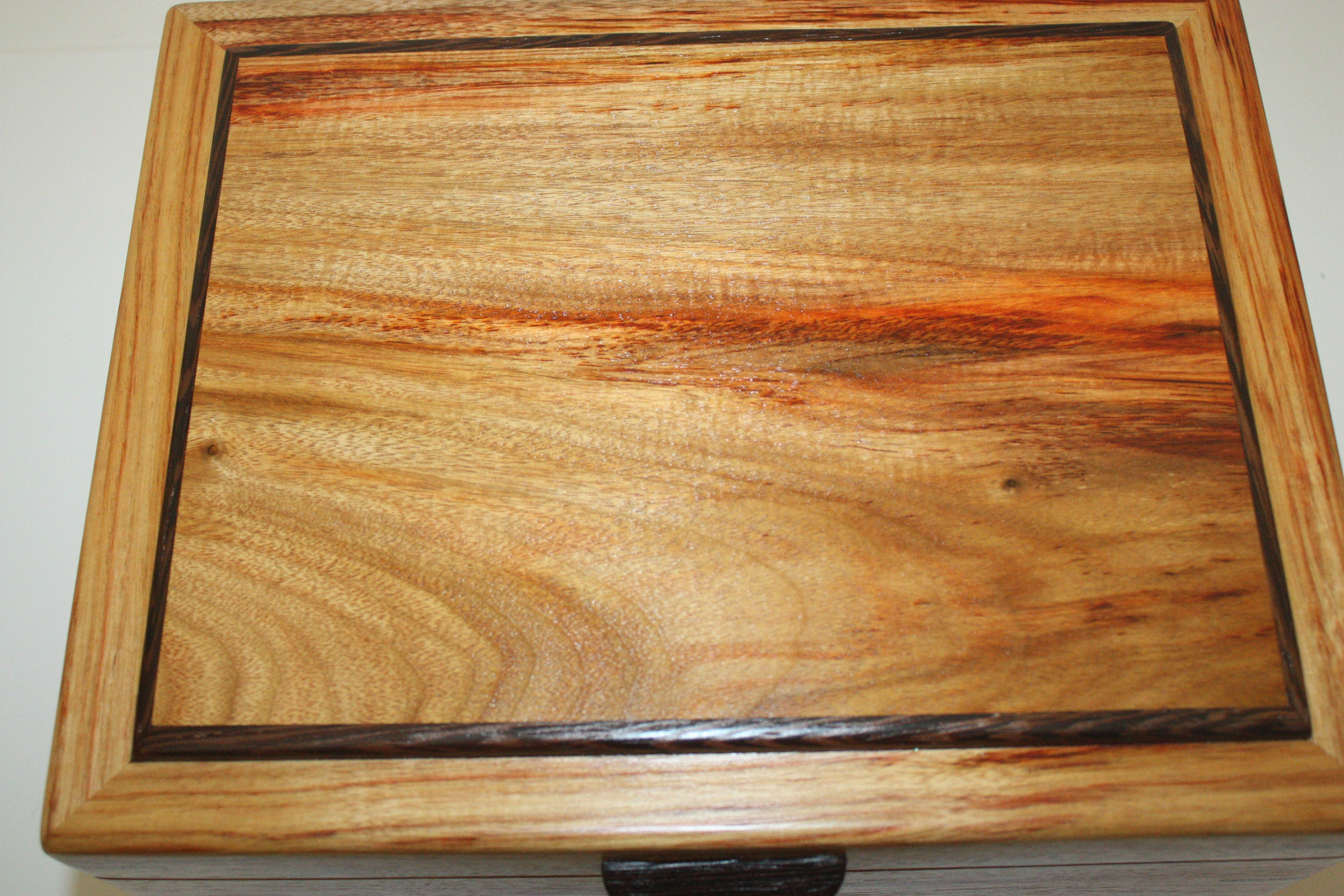 Canarywood Locking Wood Box