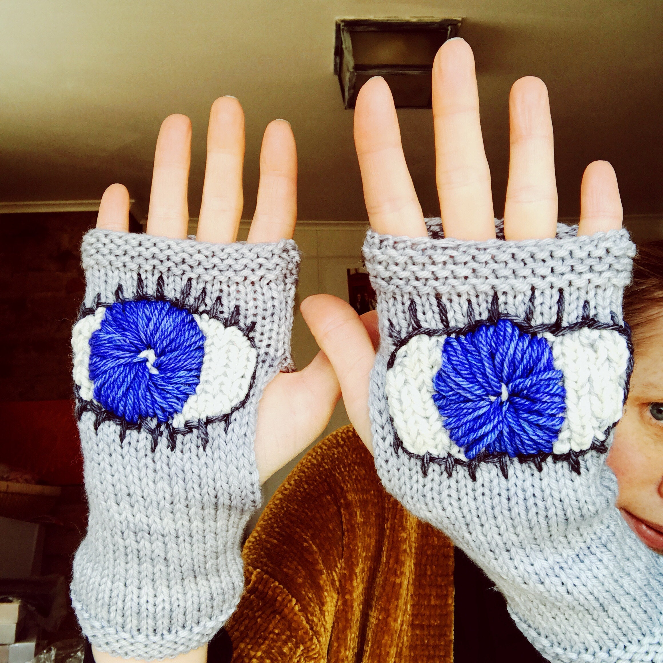 Evil eye gloves in action