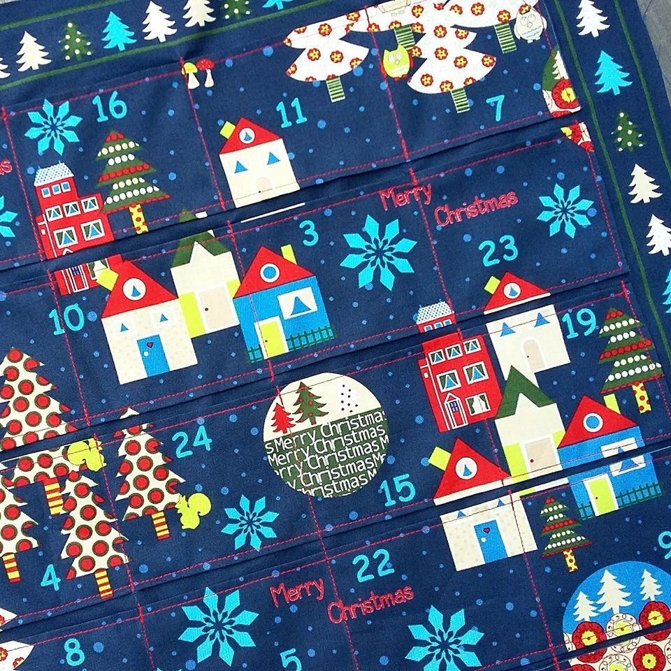 Coming soon...advent calendar in striking blues and reds