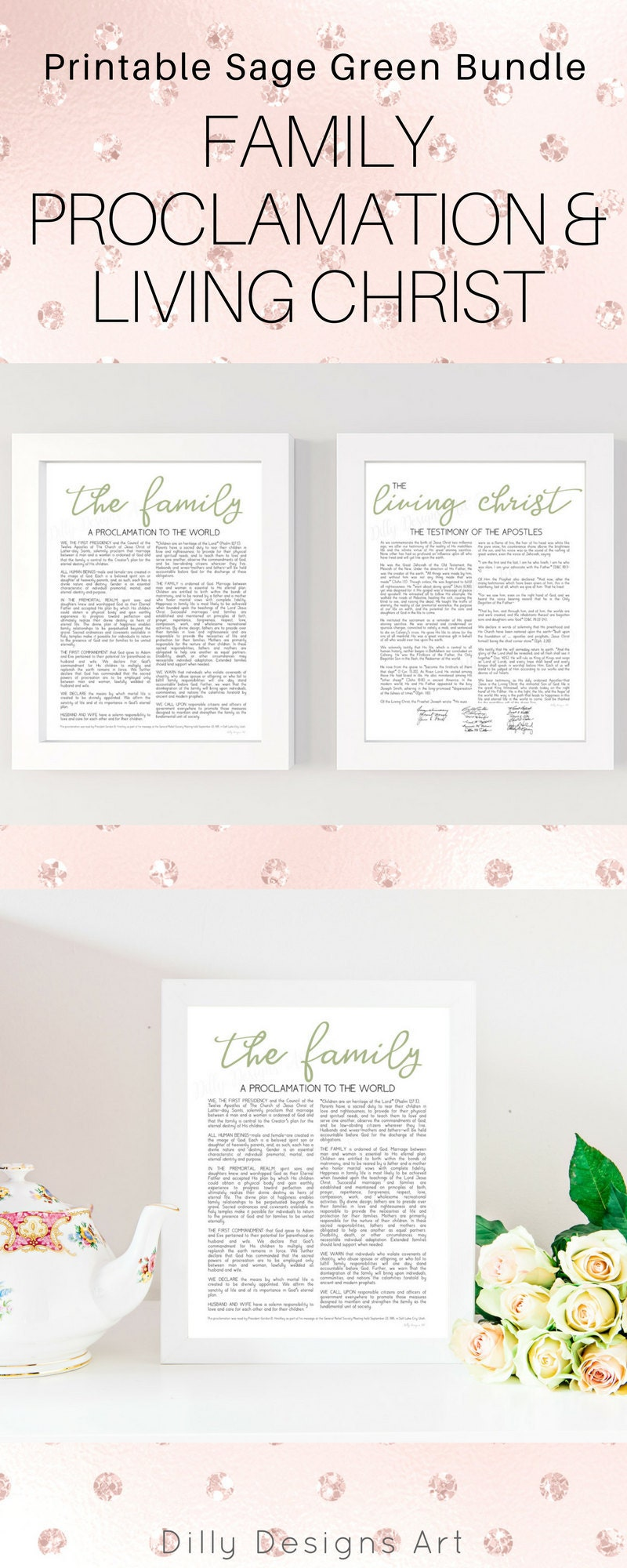 photograph regarding Family Proclamation Printable known as Sage Loved ones Proclamation and Dwelling Christ Printables