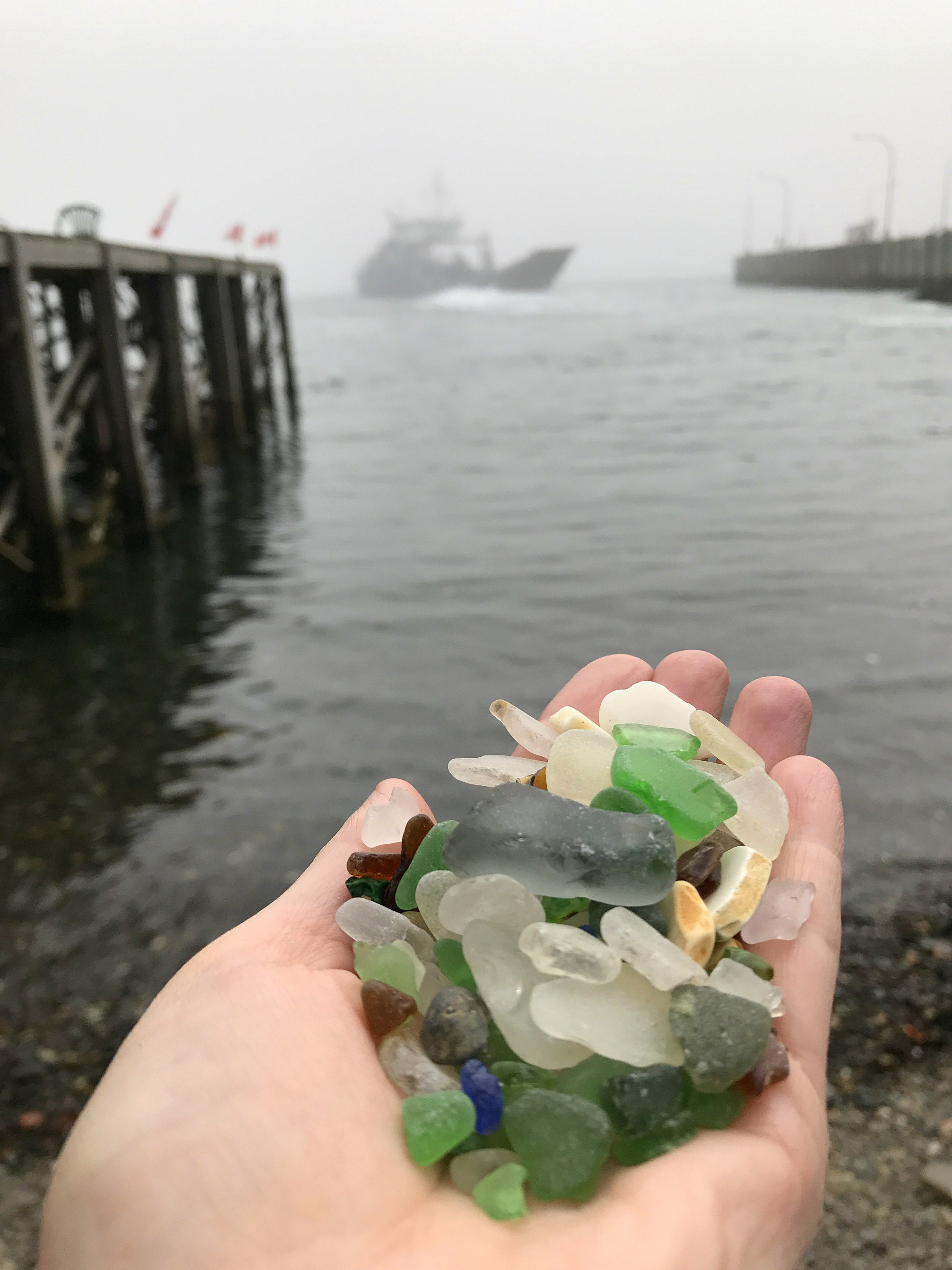 sea glass offerings nova scotia - bay of fundy- brier island