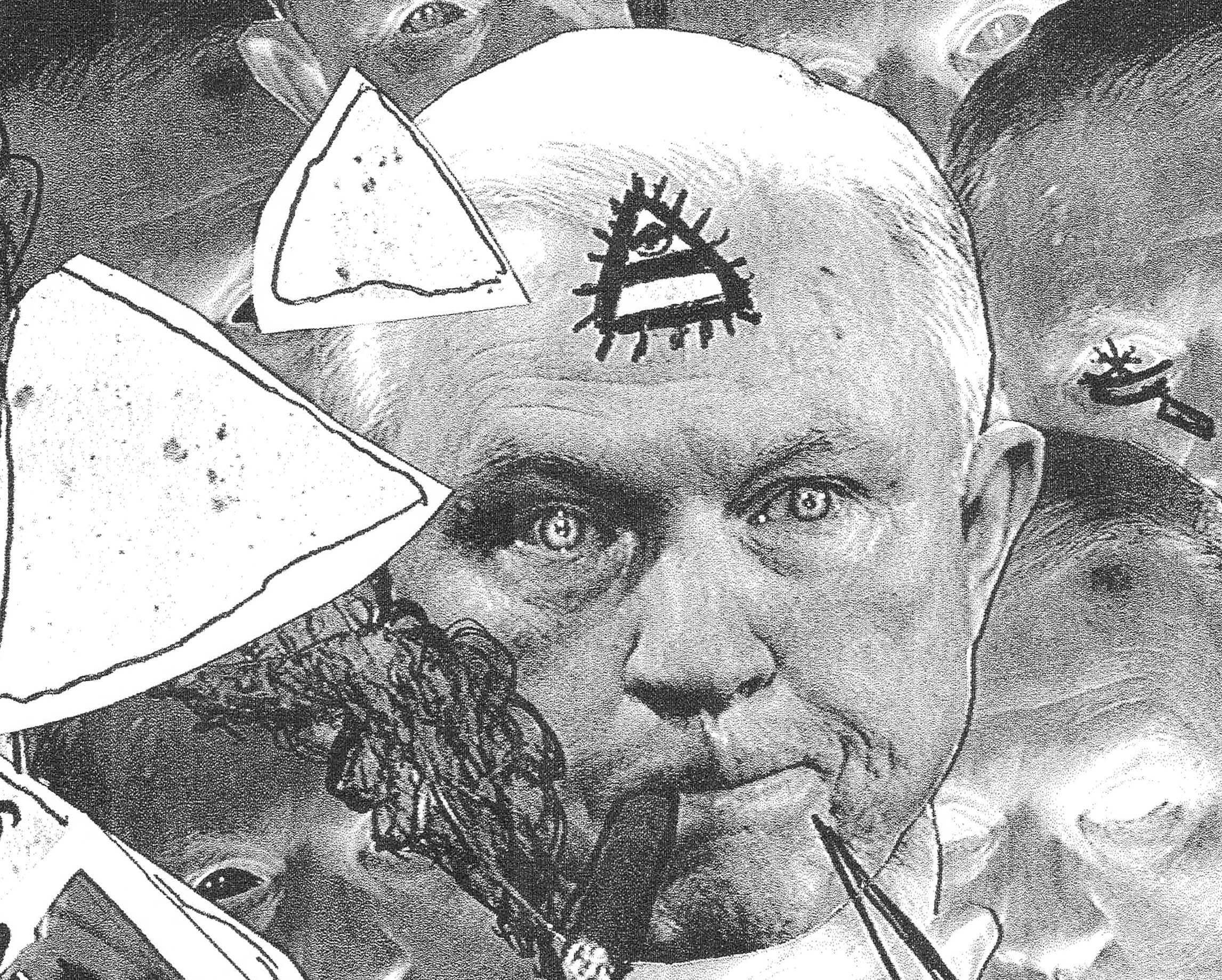 Close up of The Beauregard Sessions - satirical fictional punk rock handbill by CRD Larson