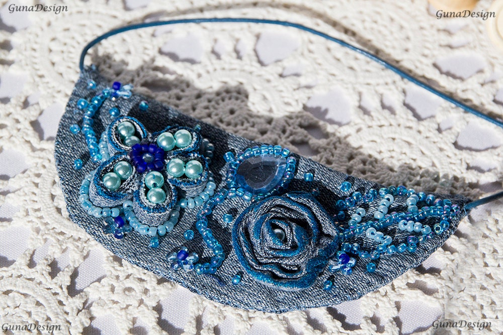 gunadesign handmade denim necklace