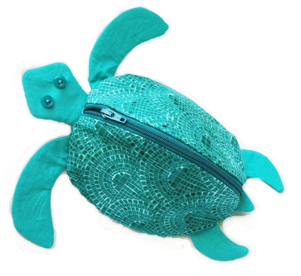 zippy zoo, sea turtle, zipper pouch