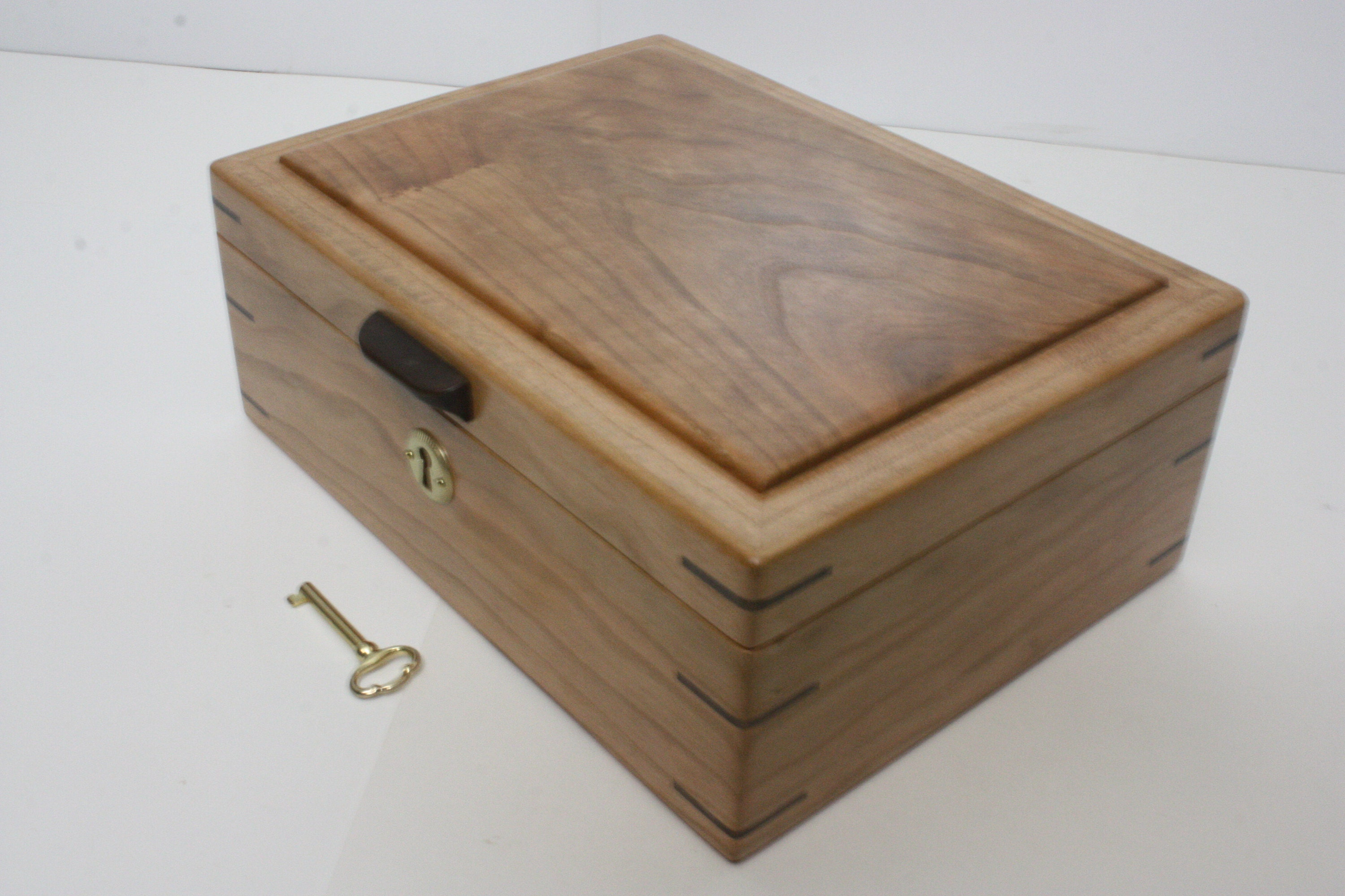 Handmade Cherry Wood Locking Box