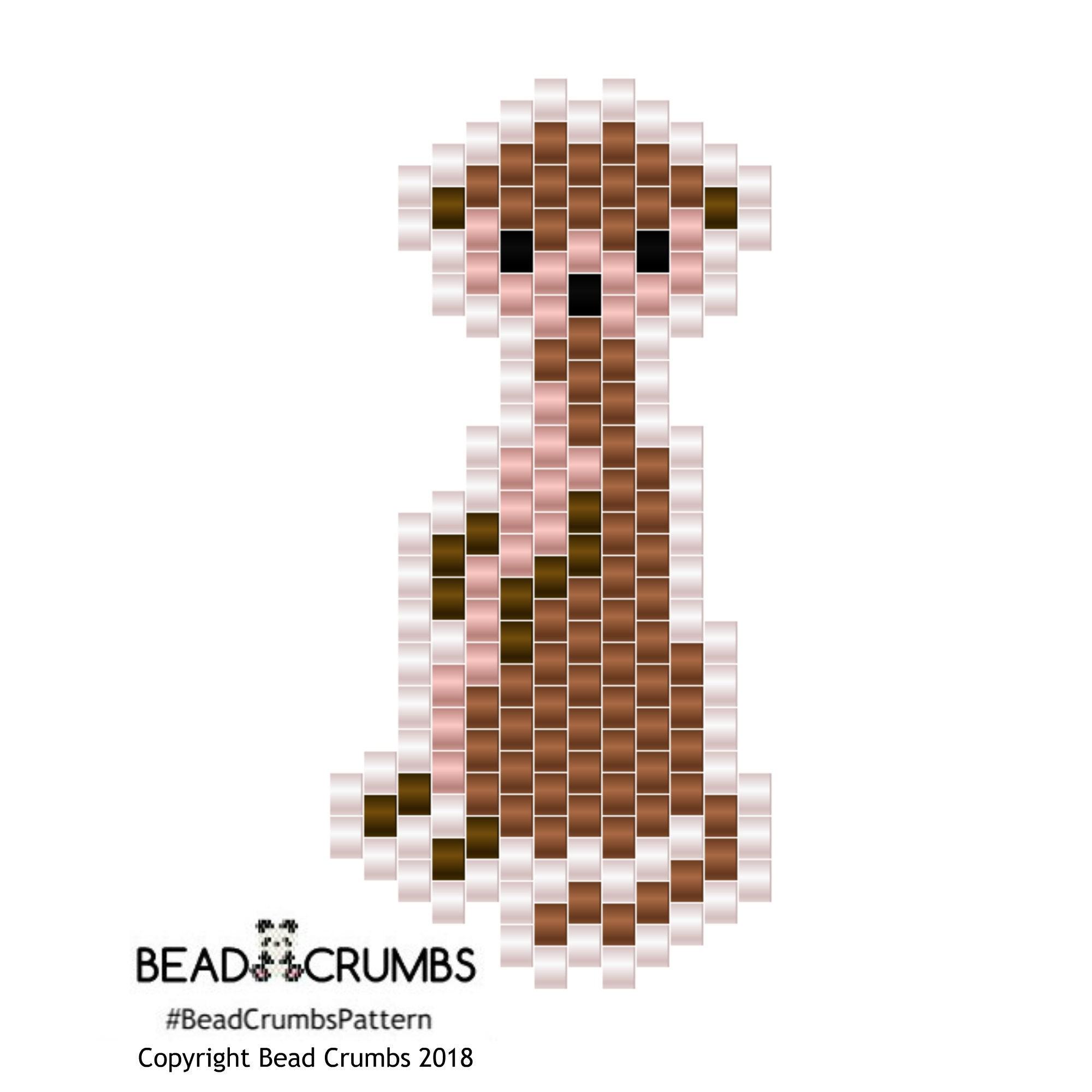 Brick Stitch Meerkat Pattern by Bead Crumbs