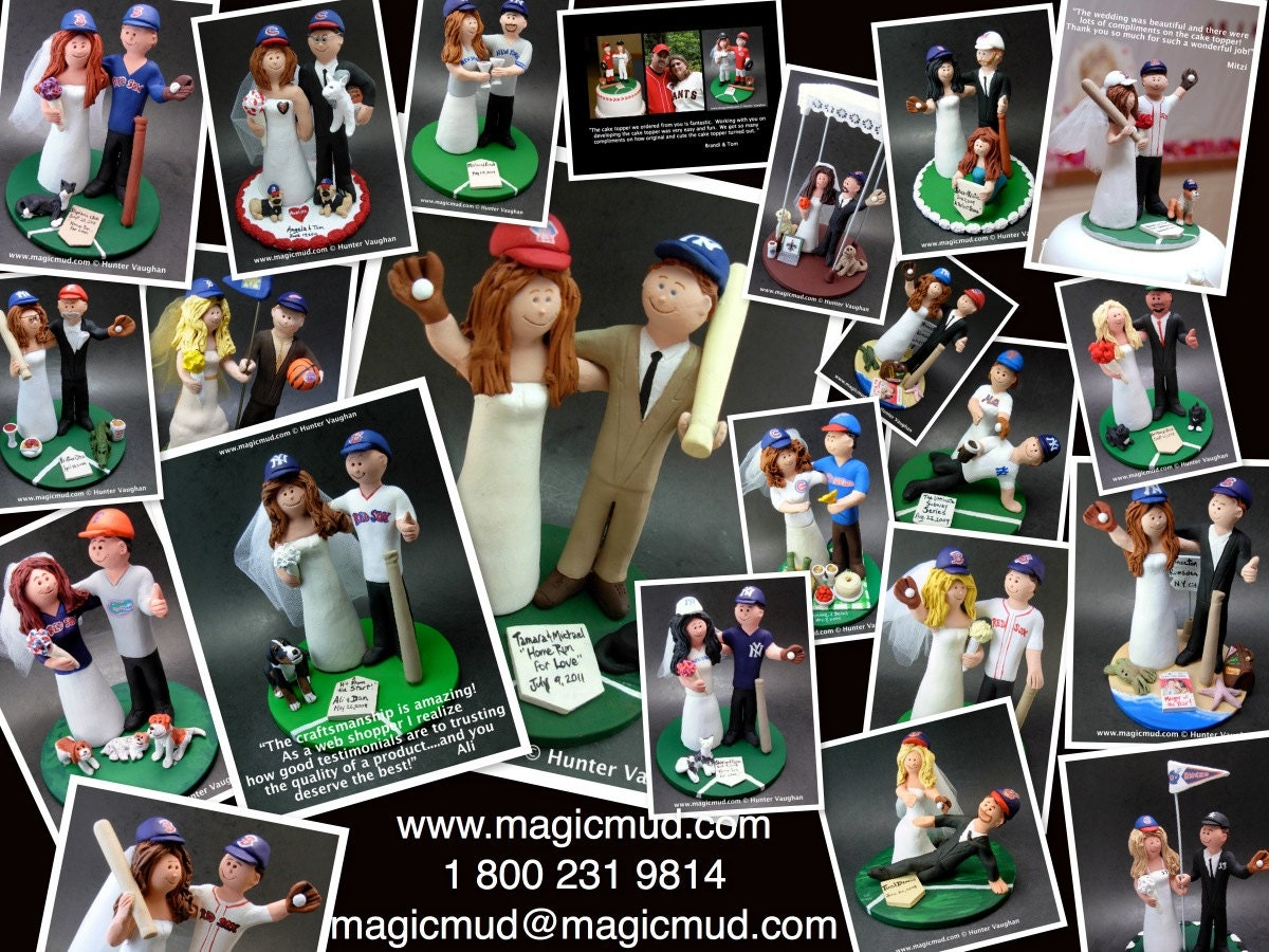 World series of matrimony ... baseball wedding cake toppers