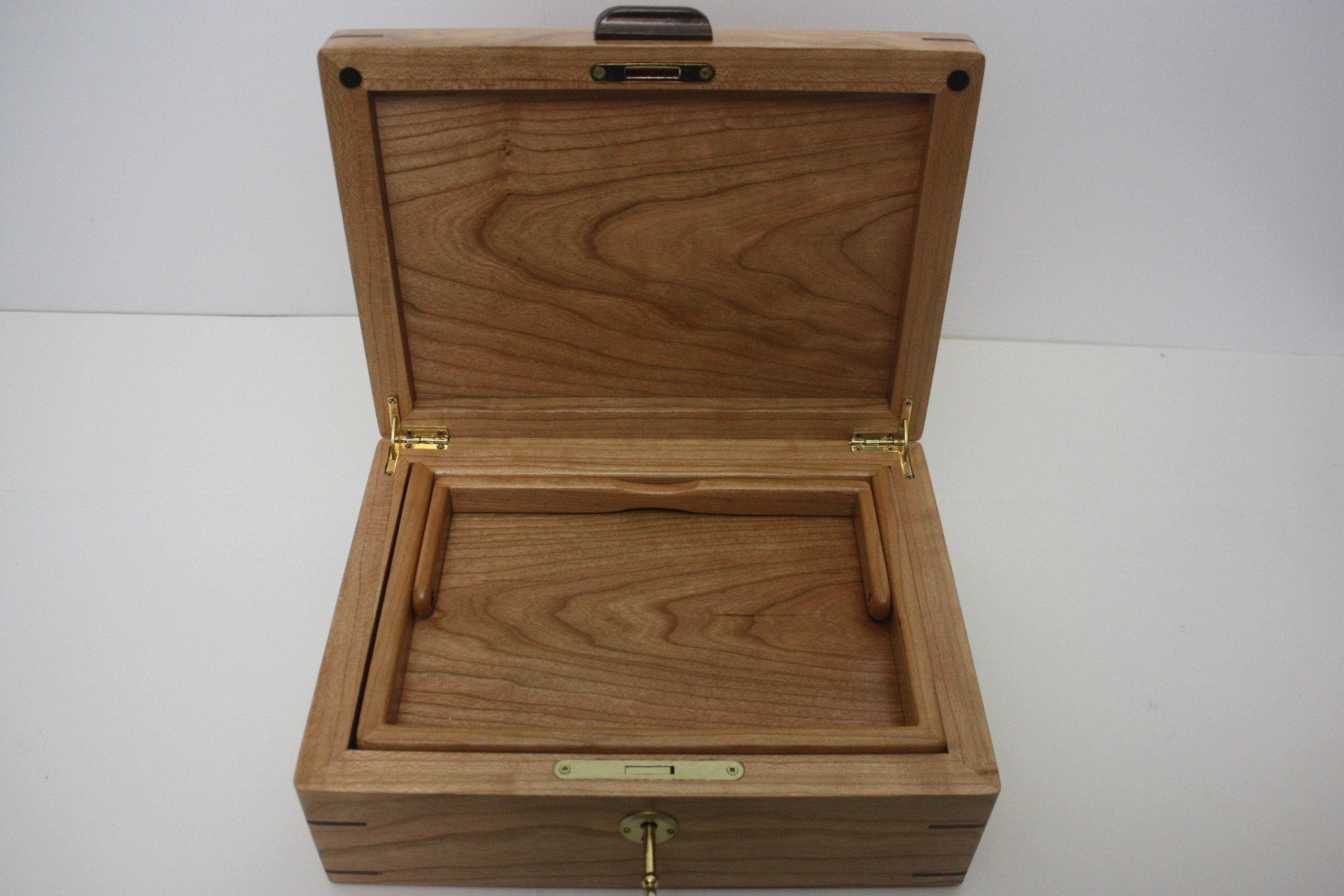 Cherry Wood Box with Lift Out Tray