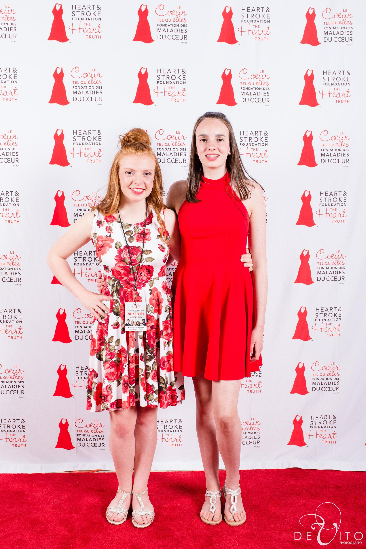 Lindsay, left, wearing #chavahdesigns