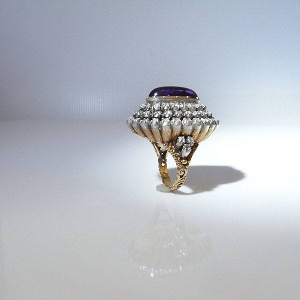 Georgian 18th Century Amethyst Diamond Ring