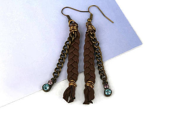 gunadesign recycled leather earrings