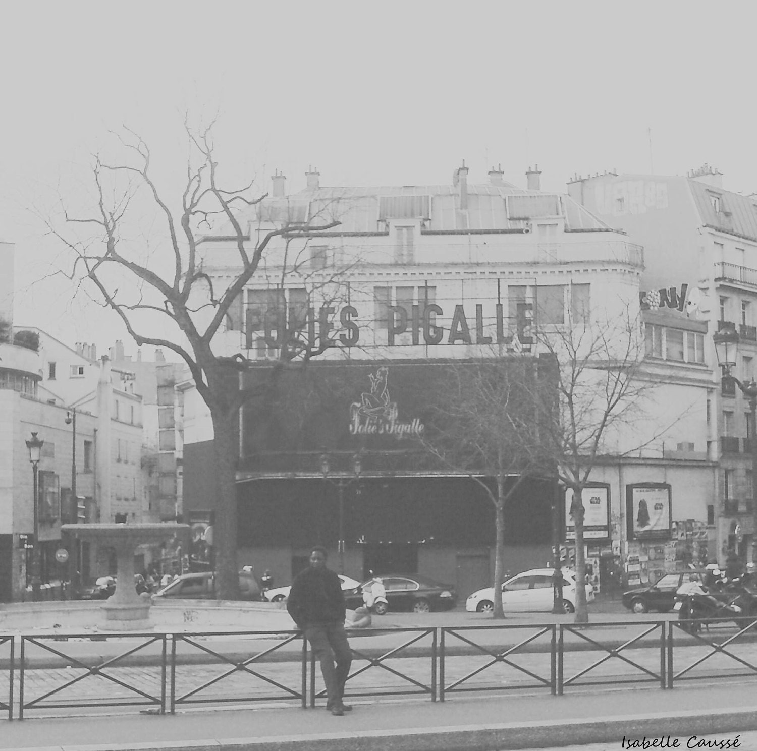 Place Pigalle, photo noir et blanc, Paris