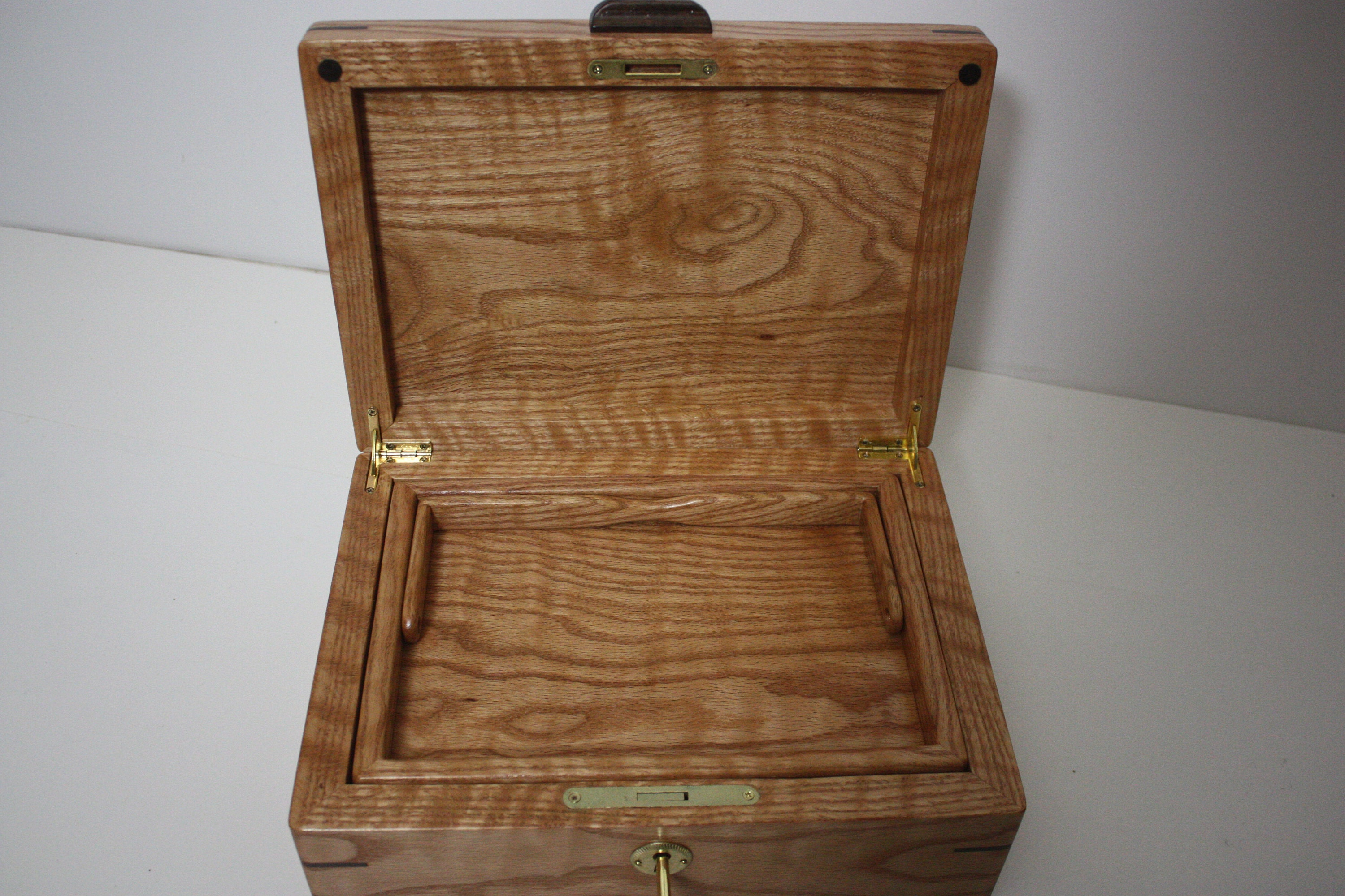Red Oak Locking Box For Sale