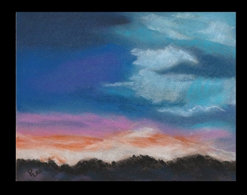 Amazing Colors of the Sky original pastel painting