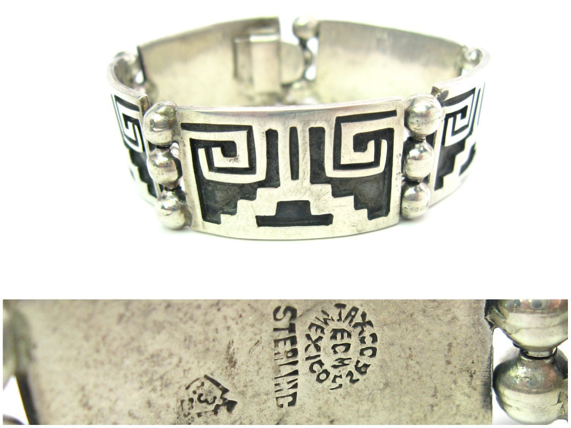 Vintage Taxco, Mexico sterling silver bracelet