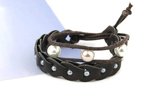 gunadesign recycled leather bracelet