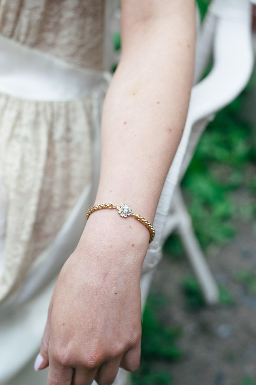 zellige gold bracelet