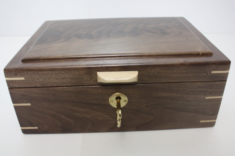 Handmade Black Walnut Locking Box