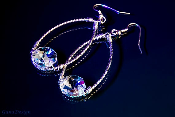 Chandelier Crystal Bead Earrings