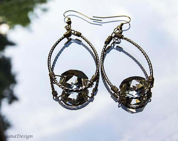 Chandelier Crystal Bead Earrings