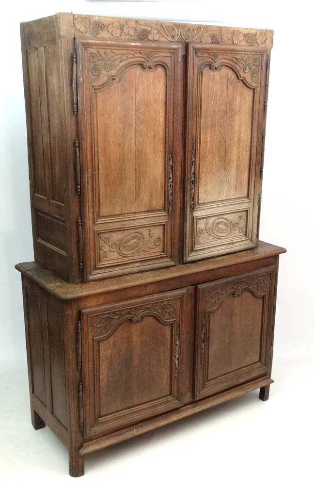 Antique French oak food cupboard