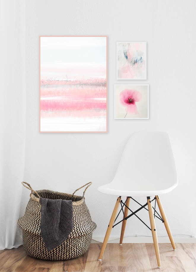 Pink Abstract Gallery Wall Art
