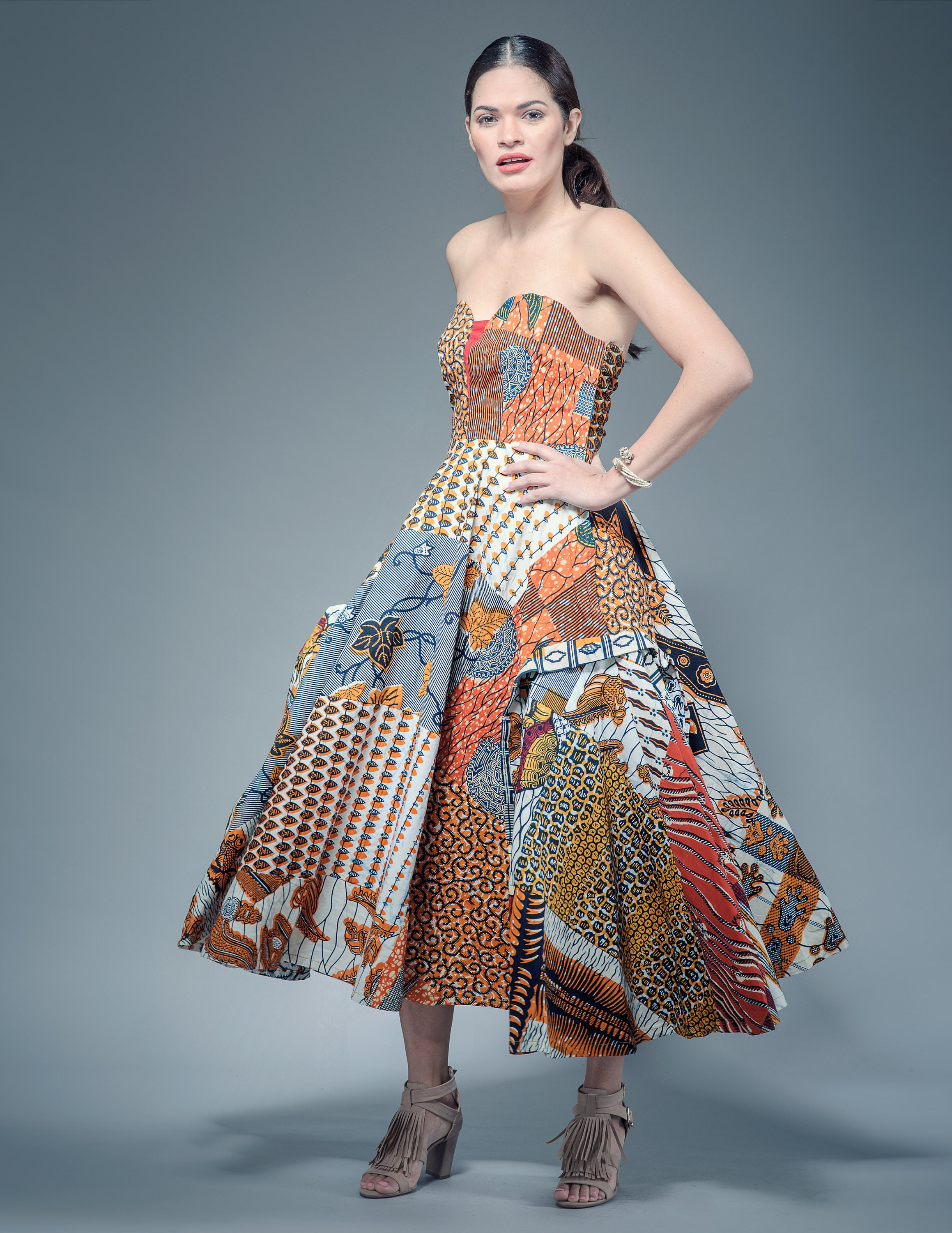 Sosome African Patchwork Evening Gowns