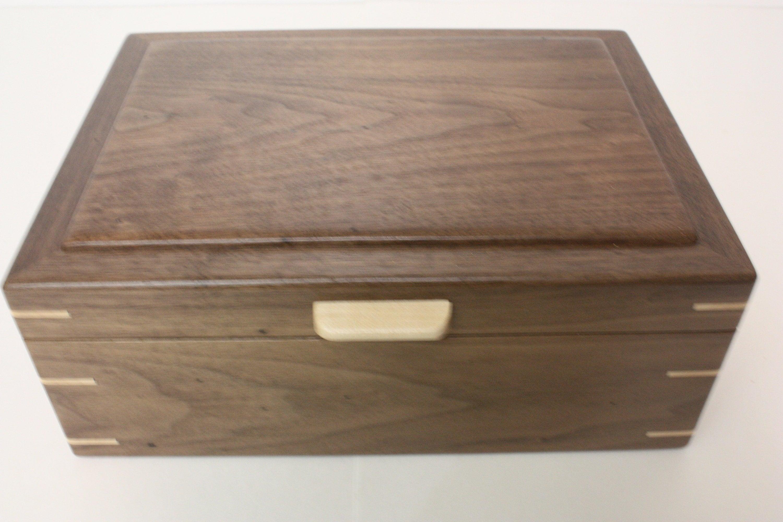 Black Walnut Wood Box For Sale