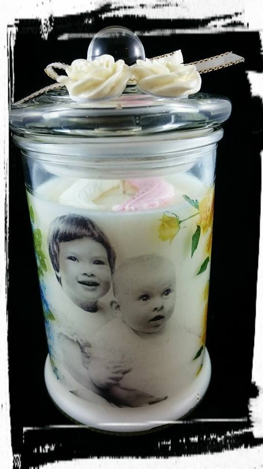 personalized memory candle made in the fragrance of Angel Wings