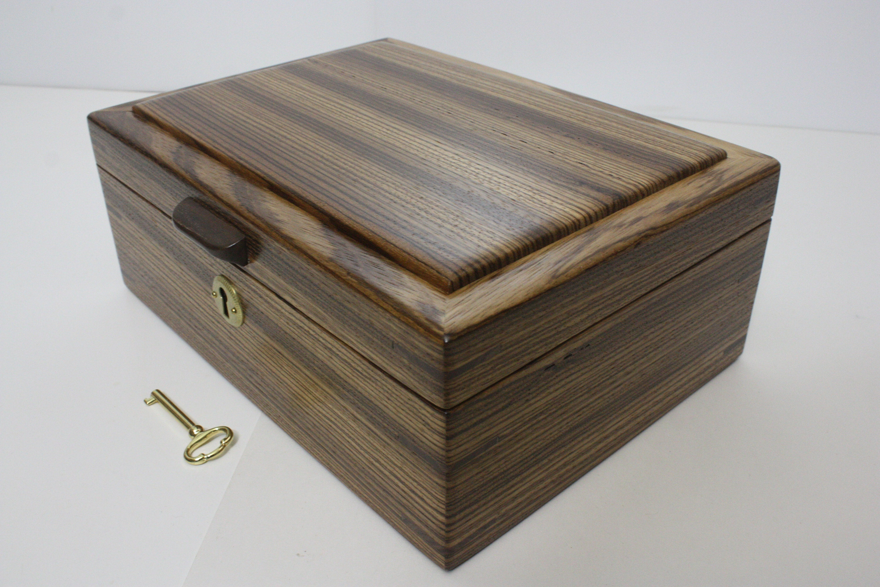 Handmade Zebrawood Locking Wood Box