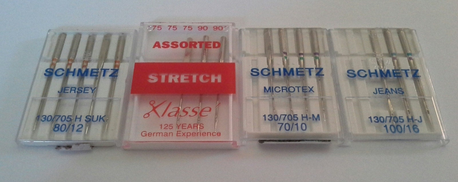 Pack 1 Size 80//12 with 3mm Gap Sewing Machine Needle Klasse Twin Needle