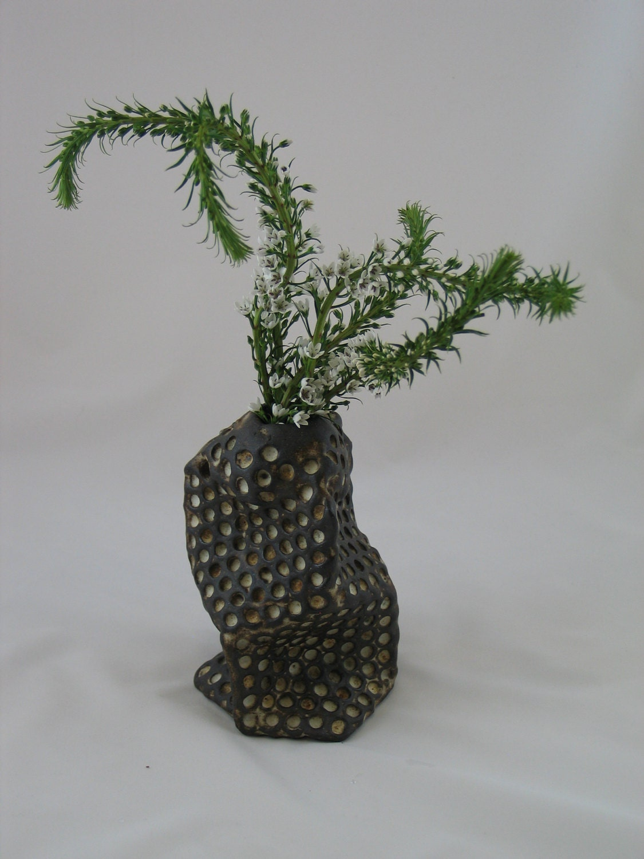 Ceramic Honeycomb vase.  Apis habilis:  Vase Number 9
