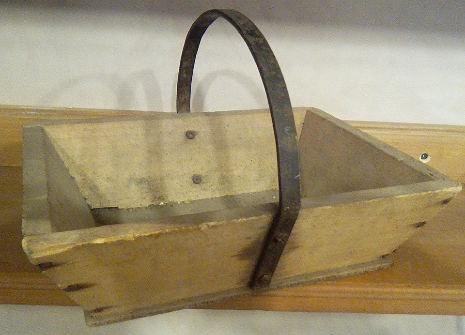 vintage French wooden trug