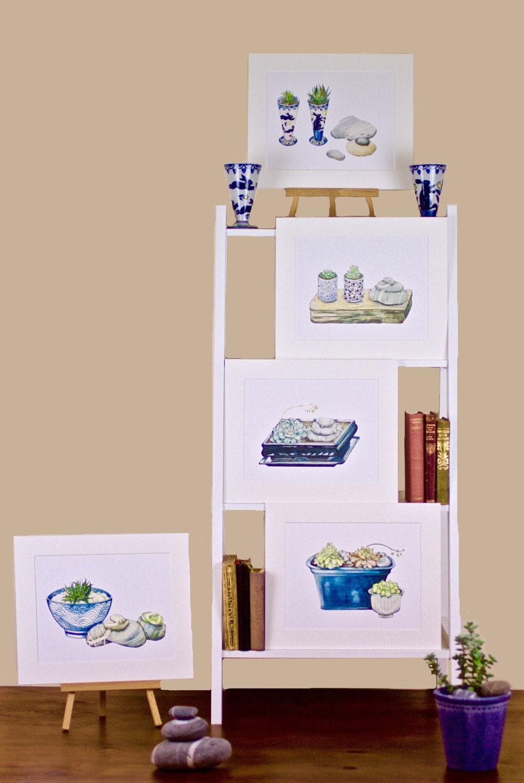 Irelands Treasures: Blue Ceramics, Succulents and Killiney Beach Stones