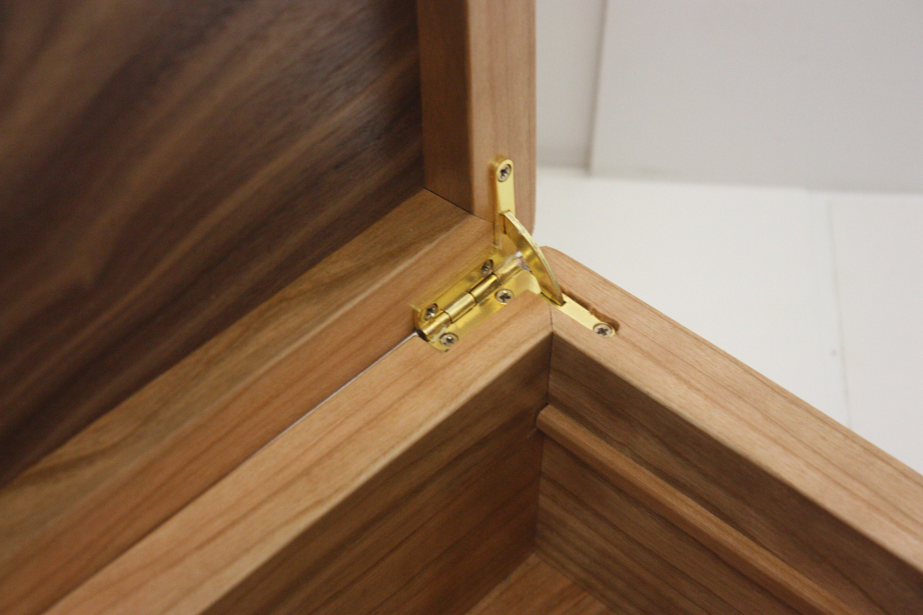 Cherry Wood Box with Quadrant Hinges