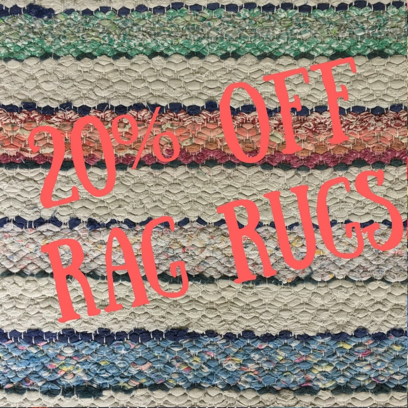 20% off rag rugs