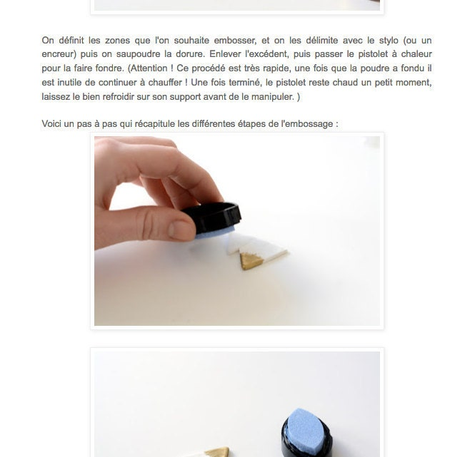 Extrait article broches cernit embossage