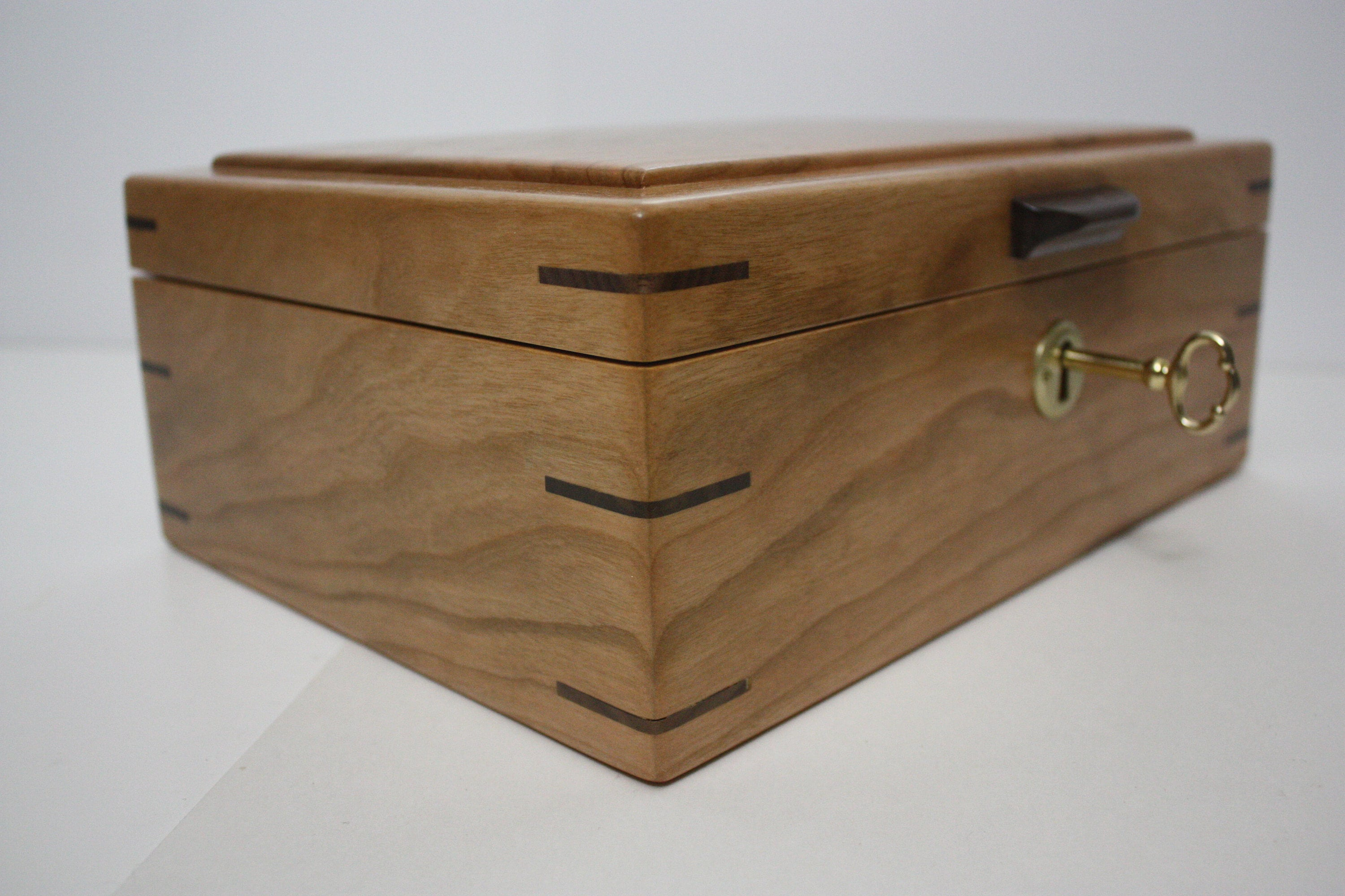Cherry Wood Locking Box
