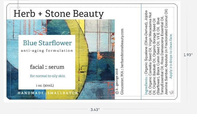 New Label in Progress for Blue Starflower