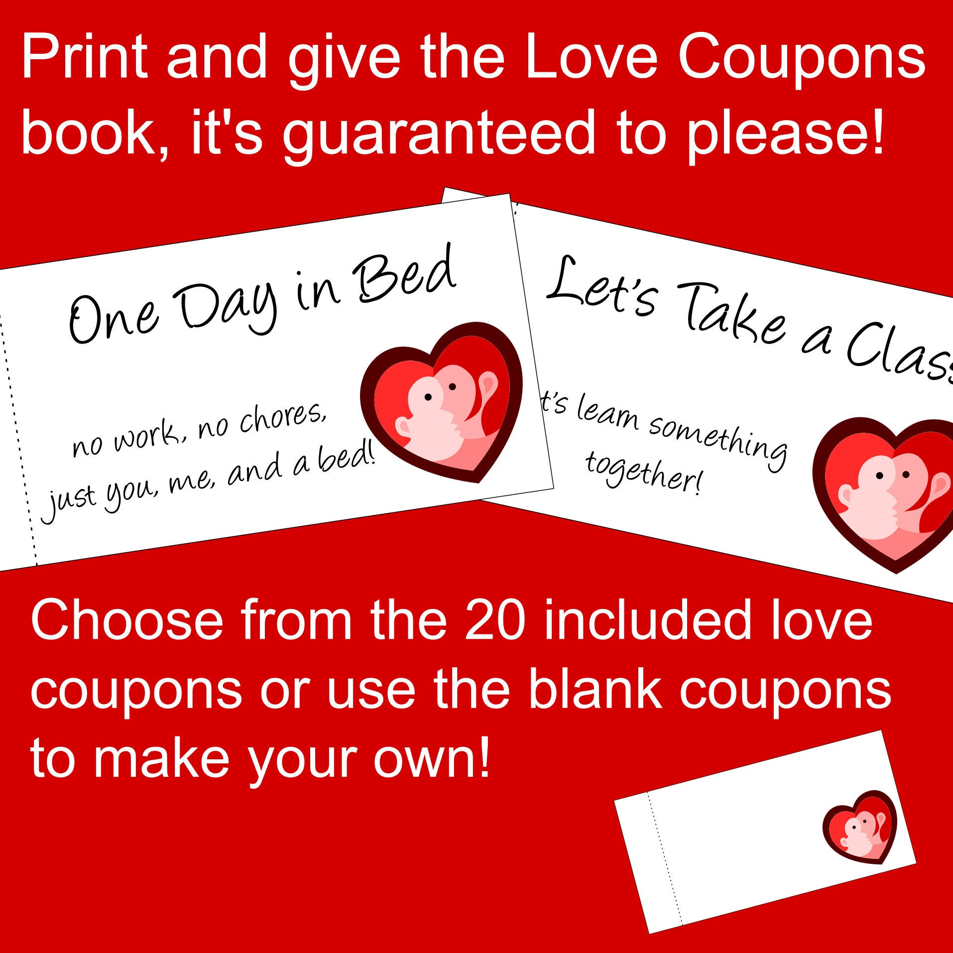 Printable Love Coupons booklet