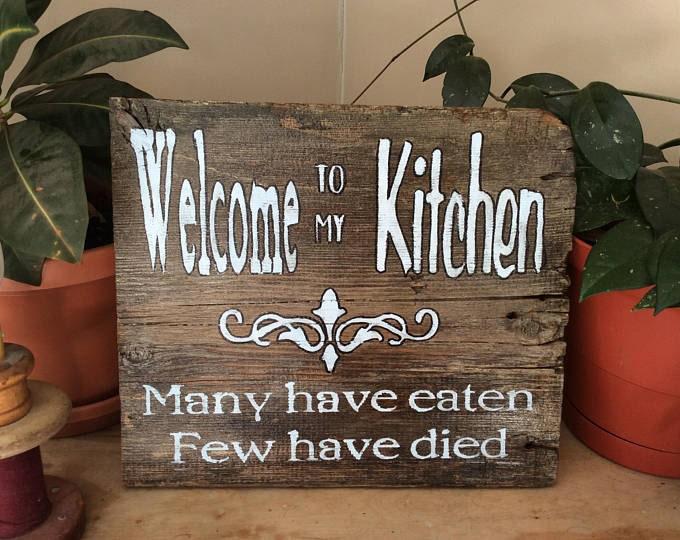 Rustic Barnwood kitchen sign