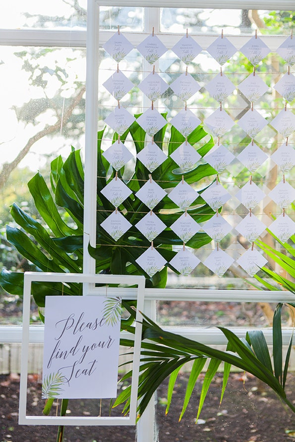 Flamboyant Invites Seating Plan/ Escort Cards