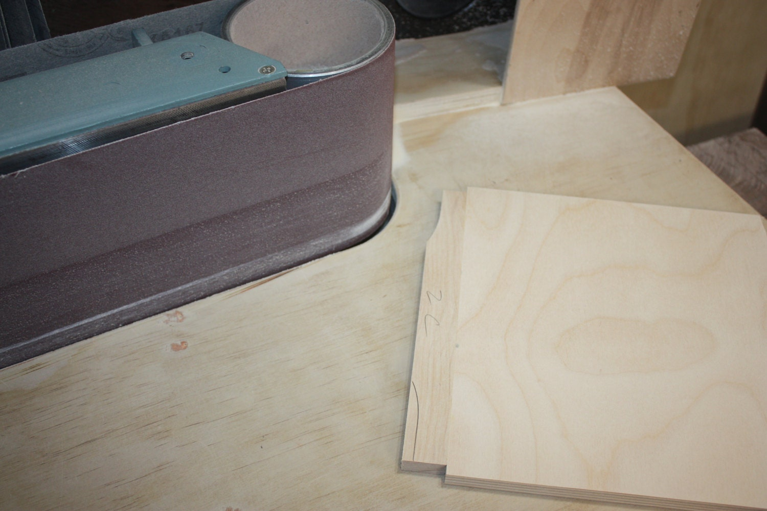 Sanding a Curve on Drawer Rails for Jewelry Box